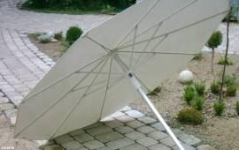 Arbeitsschirm, 2,00m, weiss, PVC - Bild vergrößern