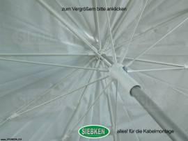 Arbeitsschirm, 2,50m, weiss, PVC - Bild vergrößern